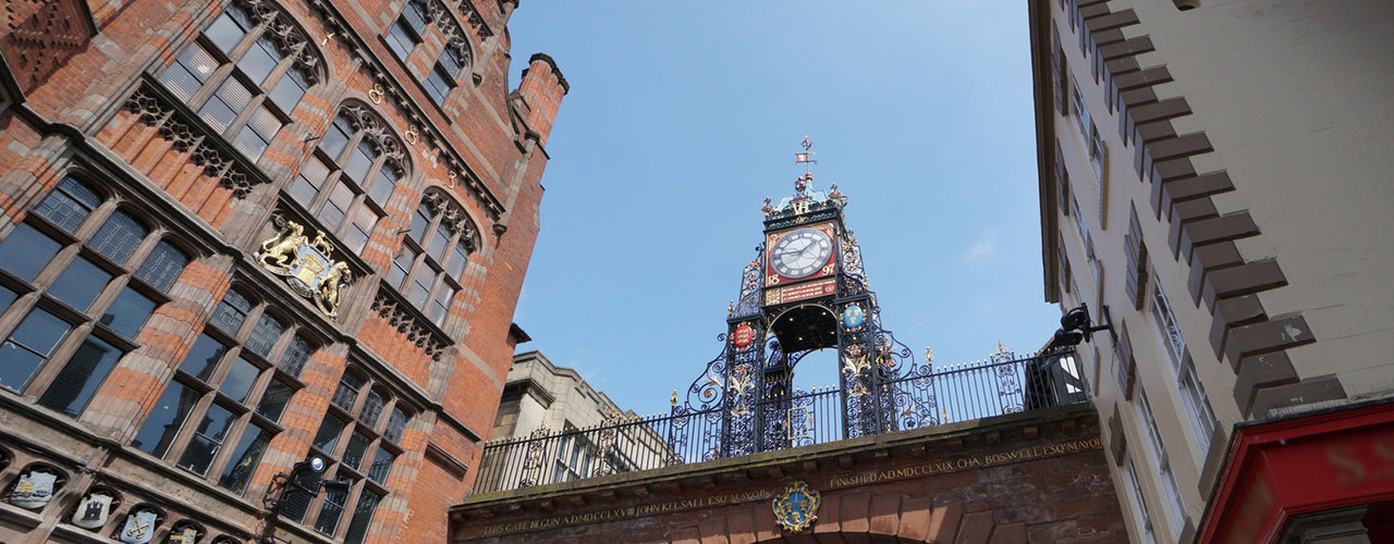 Chester city centre eastgate clock