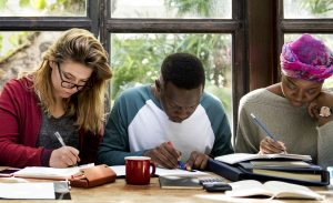 International students in student accommodation